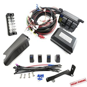 jeep jk control box – electronic 6 relay system module – wiring harness kit  with free 4 rocker switch mount – power up to 6 accessories and led off  road